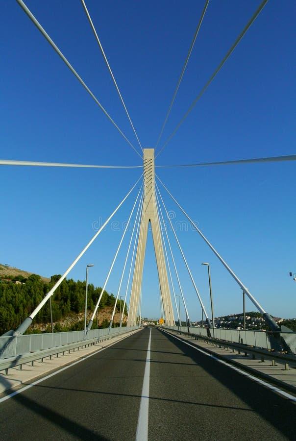 Puente de suspensión en Dubrovnik fotos de archivo