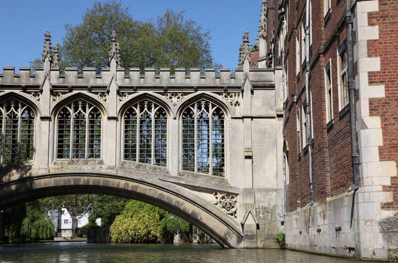Puente de suspiros - Cambridge Inglaterra foto de archivo libre de regalías