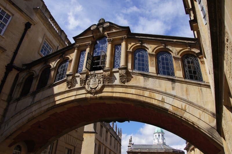 Puente de suspiros en Oxford fotos de archivo