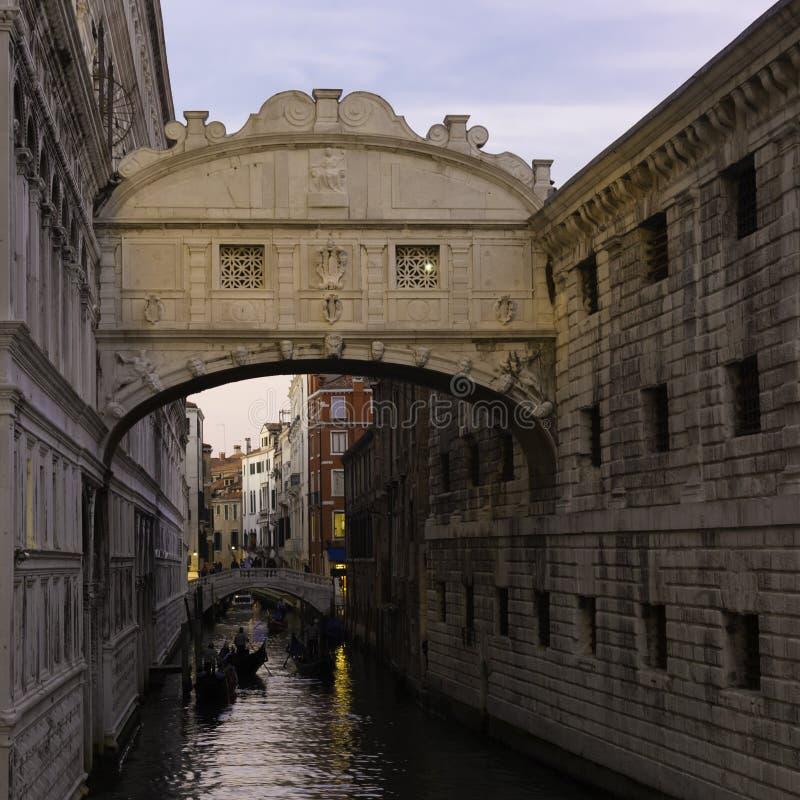 Puente de suspiros, Venecia, Italia imágenes de archivo libres de regalías