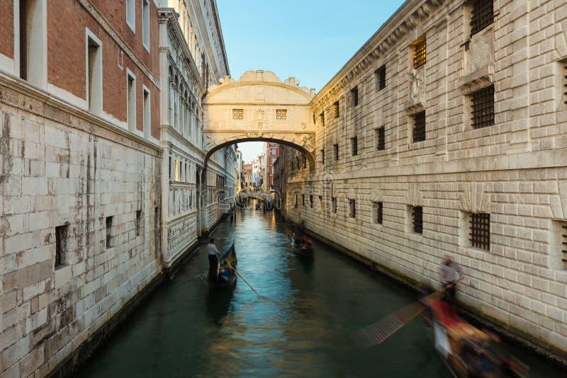 Puente de suspiros, Venecia, Italia foto de archivo