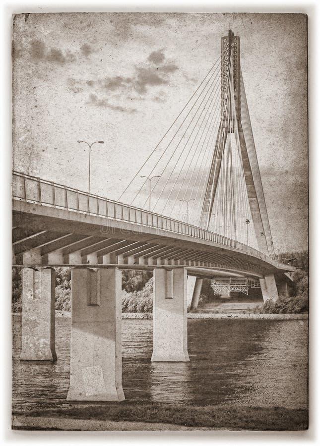 Puente de Swietokrzyski. Sephia. imagen de archivo