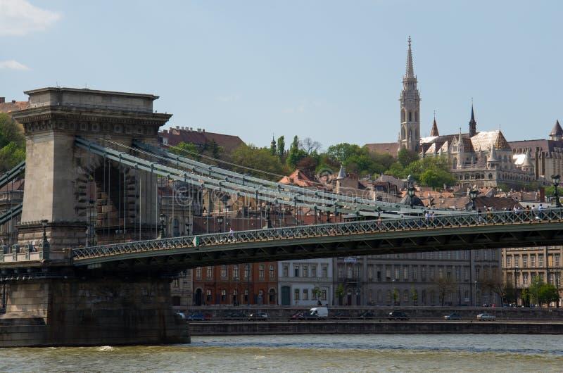 Puente de Széchenyi Lánchíd imagen de archivo libre de regalías