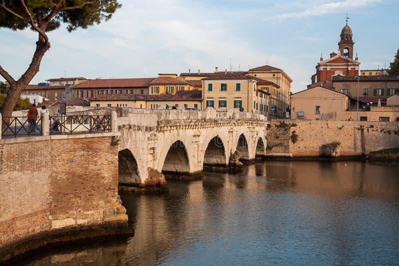 Puente de Tiberius romano histórico fotografía de archivo