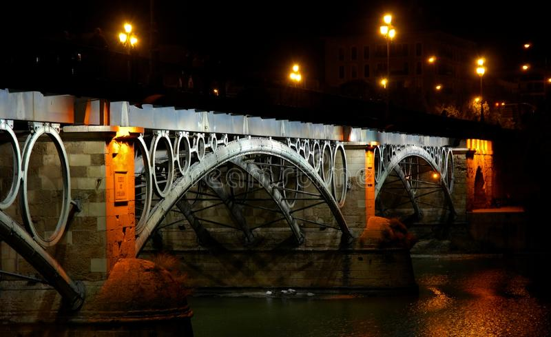 Puente de Triana, Seville royalty free stock photos