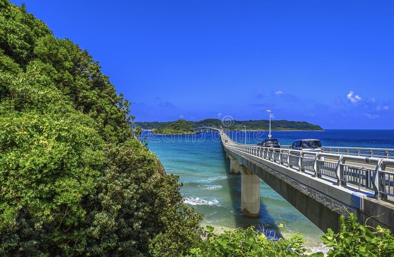 Puente de Tsunoshima imagen de archivo libre de regalías