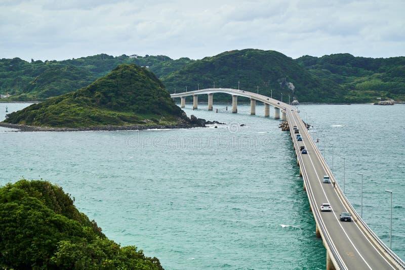 Puente de Tsunoshima imagenes de archivo