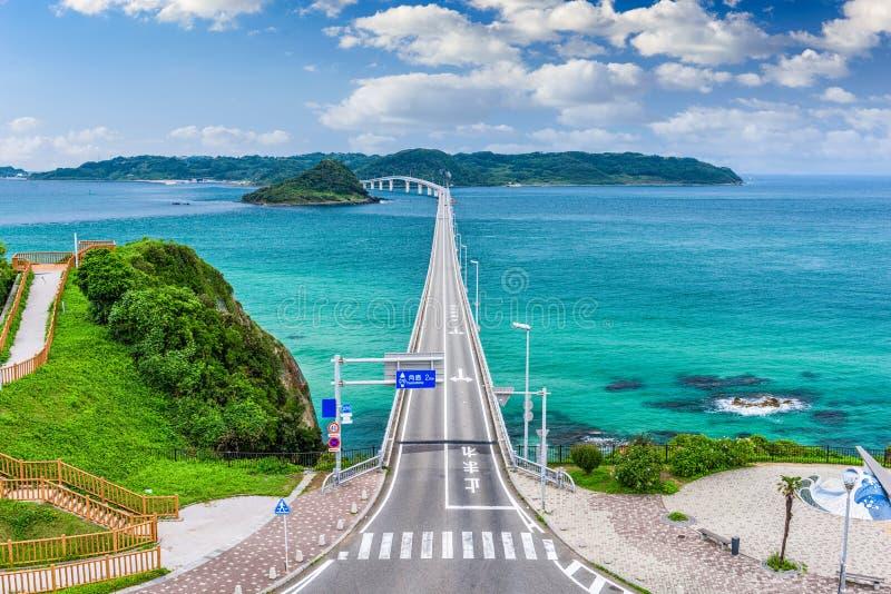 Puente de Tsunoshima Ohashi fotografía de archivo