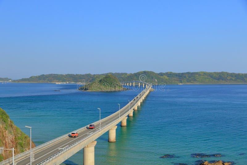 Puente de Tsunoshima Ohashi por la mañana foto de archivo