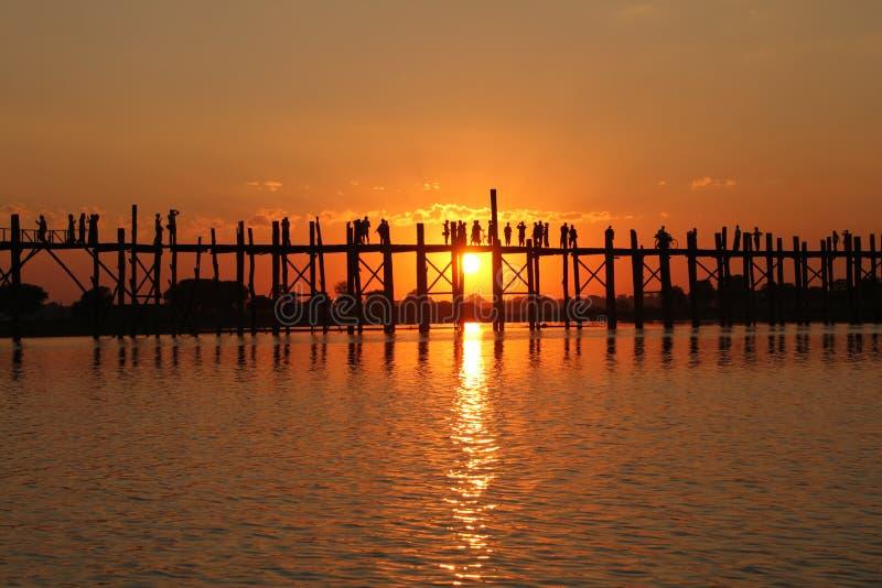 Puente de U Bein | Mandalay, Myanmar fotografía de archivo libre de regalías