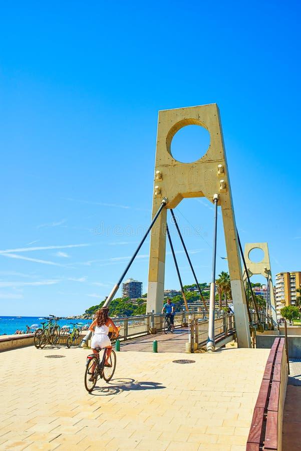 Puente de Valentina Bridge. Sant Antoni de Calonge, Girona, Spain stock image