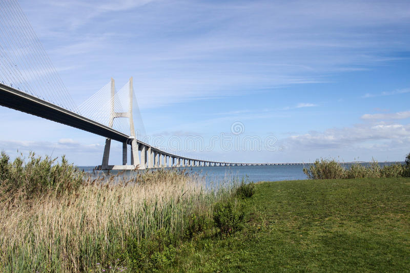 Puente de Vasco da Gama fotografía de archivo libre de regalías