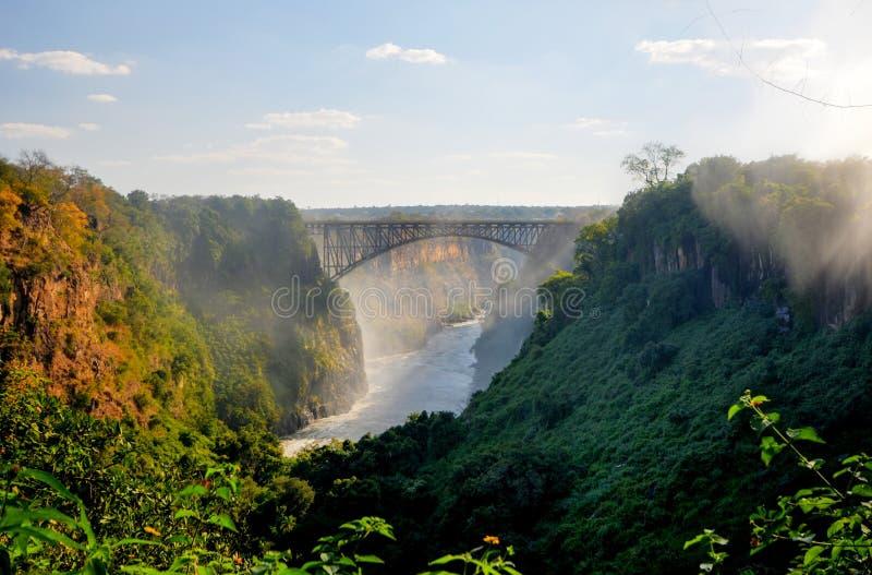 Puente de Victoria Falls imagen de archivo libre de regalías