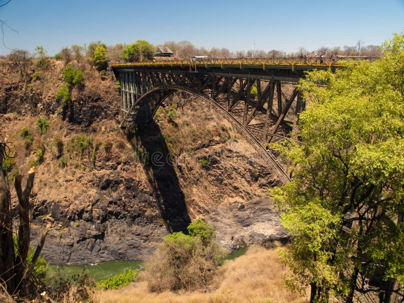 Puente de Victoria Falls fotografía de archivo