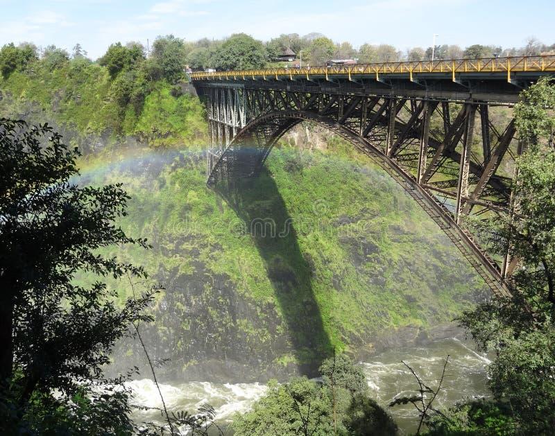 Puente de Victoria Falls imagenes de archivo