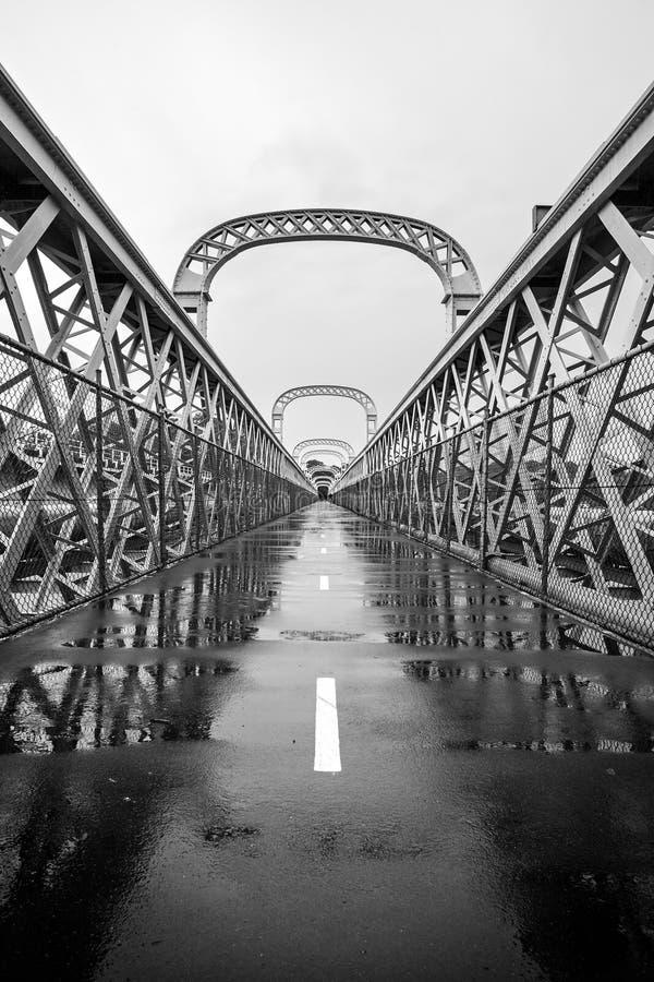 Puente de viga del enrejado de la herencia de Como foto de archivo libre de regalías