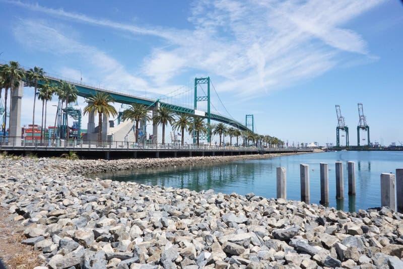 Puente de Vincent Thomas foto de archivo