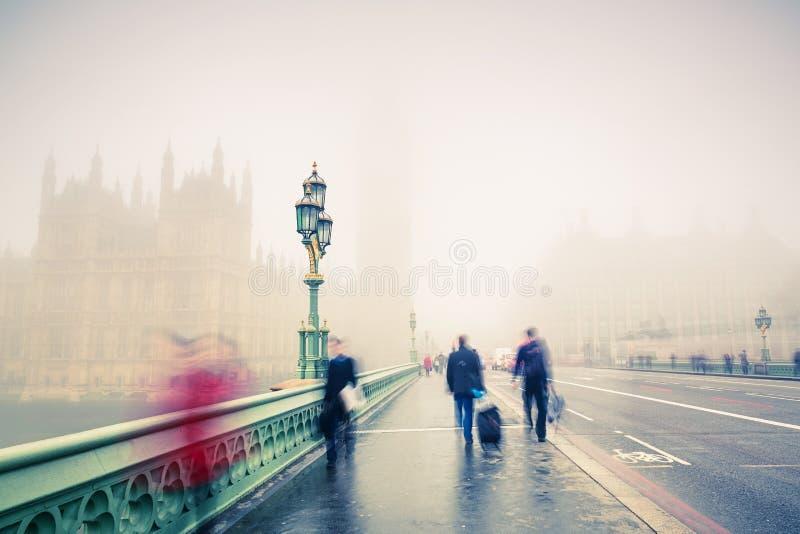 Puente de Westminster en Londres fotografía de archivo