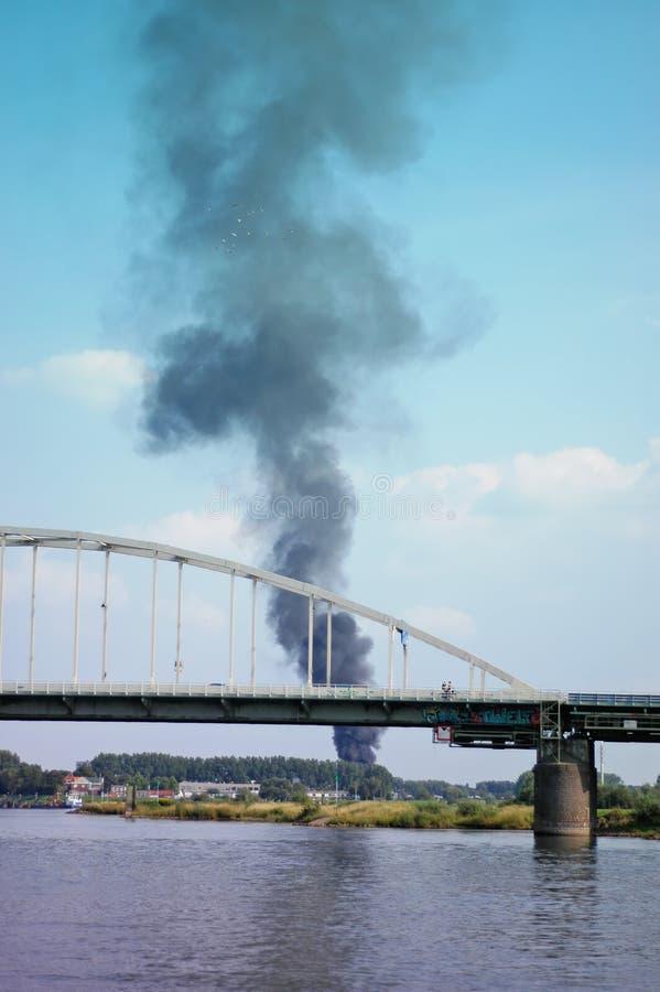 Puente de Wilhelminabrug imagen de archivo