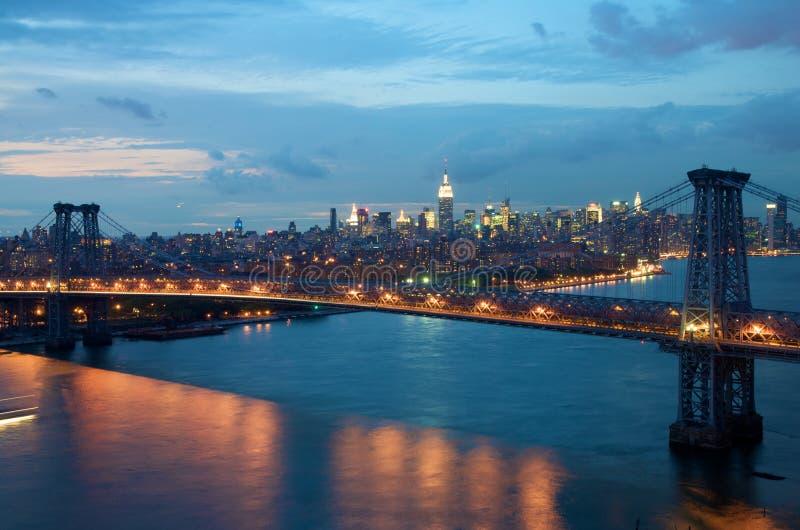 Puente de Williamsburg en Nueva York fotos de archivo
