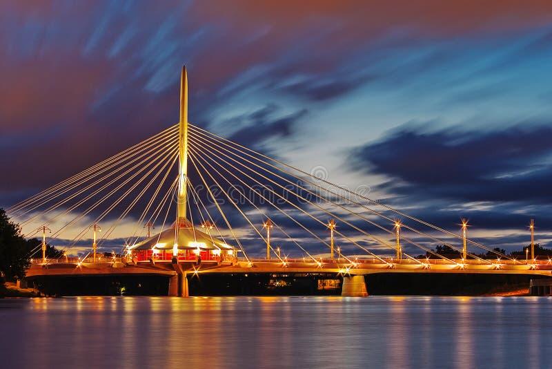 Puente de Winnipeg foto de archivo libre de regalías