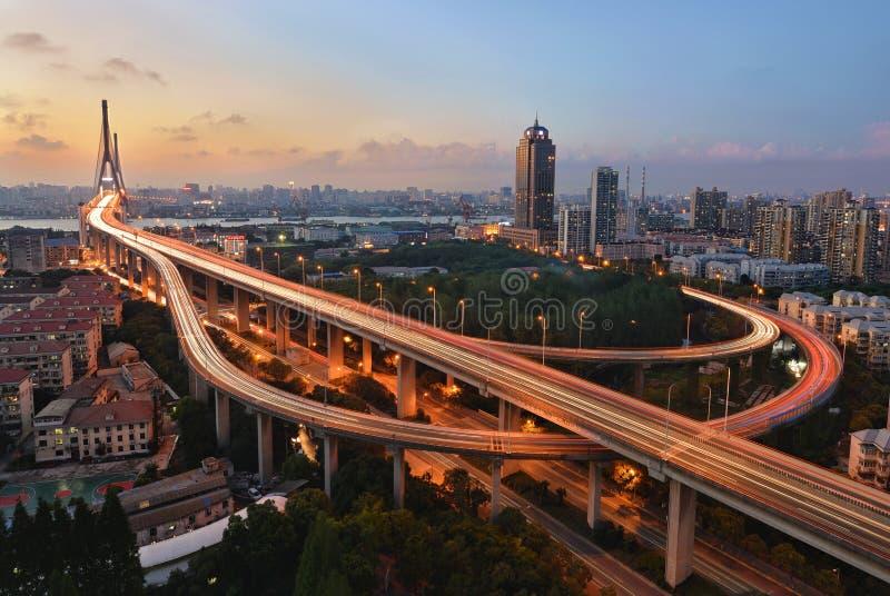 Puente de Yangpu, Shangai fotos de archivo