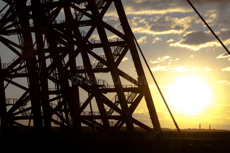 Puente de Zhivopisny puente Cable-permanecido moscú foto de archivo libre de regalías
