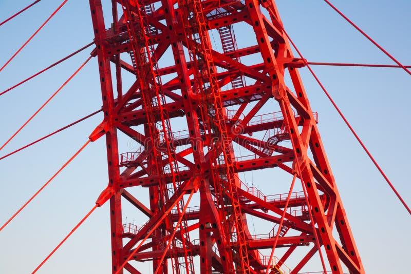 Puente de Zhivopisny puente Cable-permanecido Primer foto de archivo