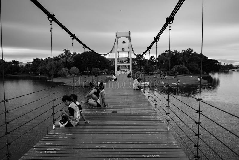 Puente del amor fotografía de archivo