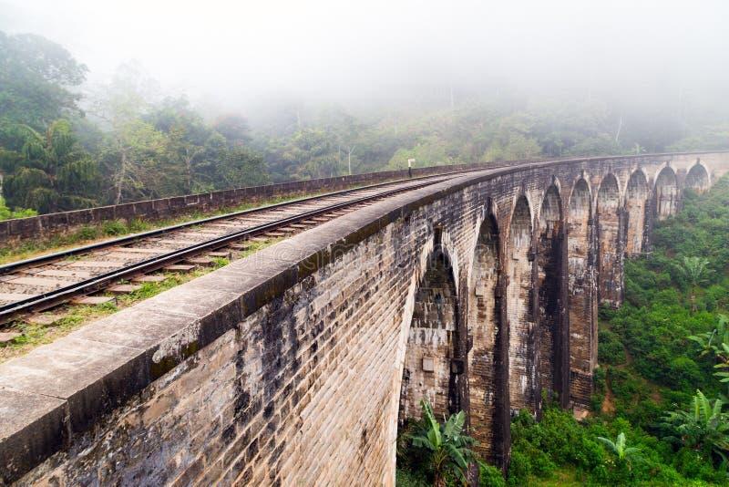 Puente del arco de Demodara nueve del ferrocarril fotografía de archivo libre de regalías