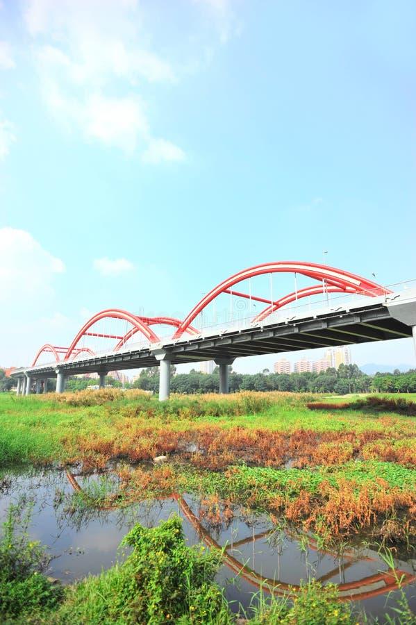 Puente del arco iris de Shenzhen fotos de archivo