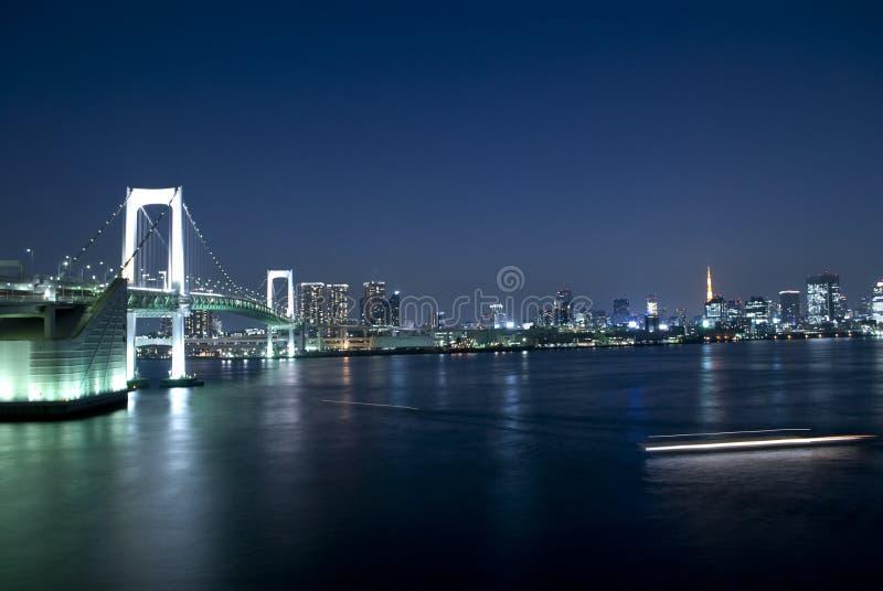 Puente del arco iris de Tokio imagenes de archivo