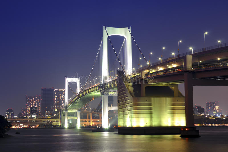 Puente del arco iris de Tokio fotos de archivo