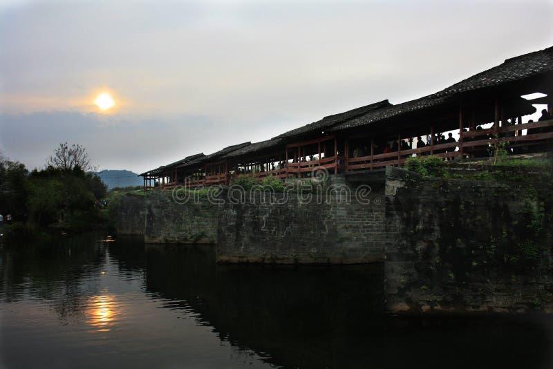 Puente del arco iris de WuYuan imagenes de archivo