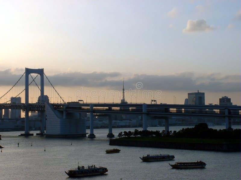 Puente del arco iris - Tokio, Japón imagen de archivo