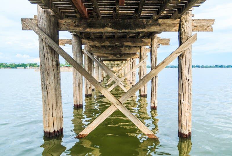 Puente del bein de U en myanmar imagenes de archivo