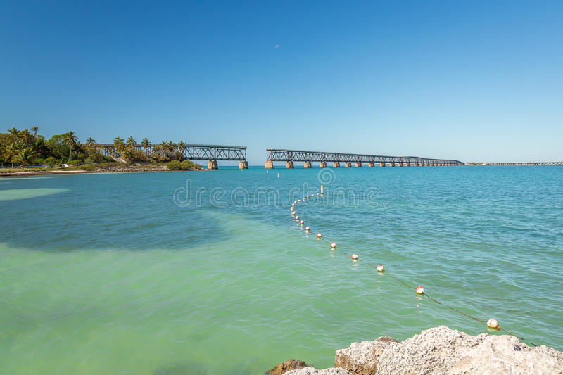 Puente del carril de Bahía Honda fotografía de archivo