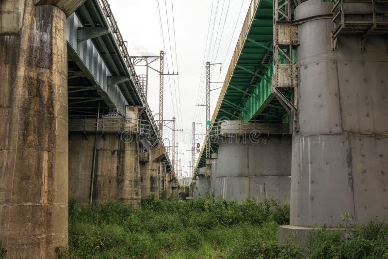 Puente del chulgyo de Hangang foto de archivo