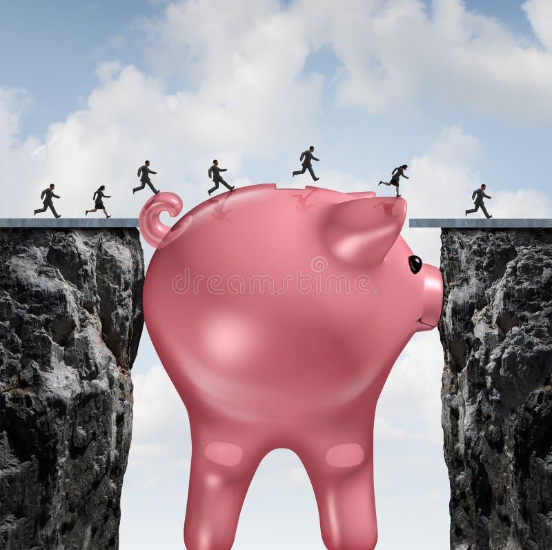Puente del dinero stock de ilustración