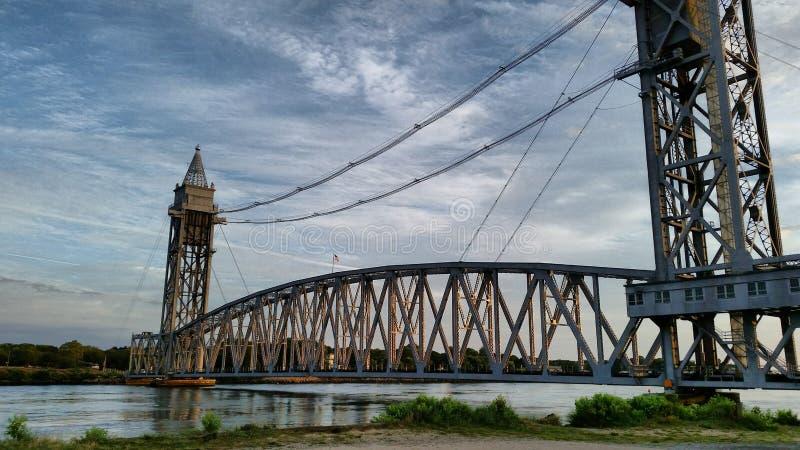 Puente del ferrocarril del canal de Cape Cod fotos de archivo