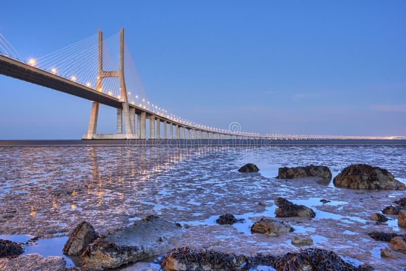 Puente del Gama de Vasco DA, Lisboa, Portugal imagen de archivo libre de regalías