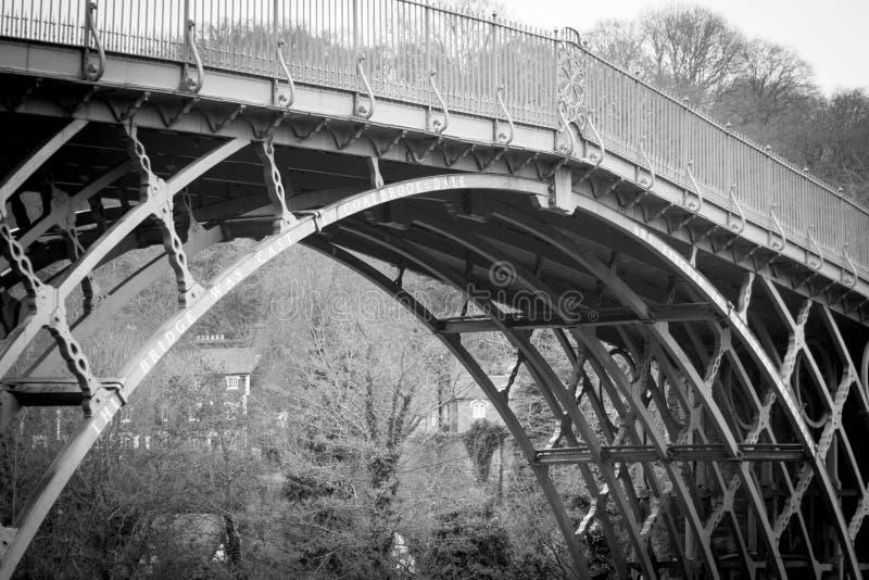 Puente del hierro, Shropshire, Inglaterra Reino Unido fotografía de archivo