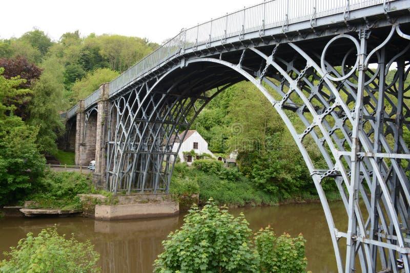 Puente del hierro, telford foto de archivo libre de regalías