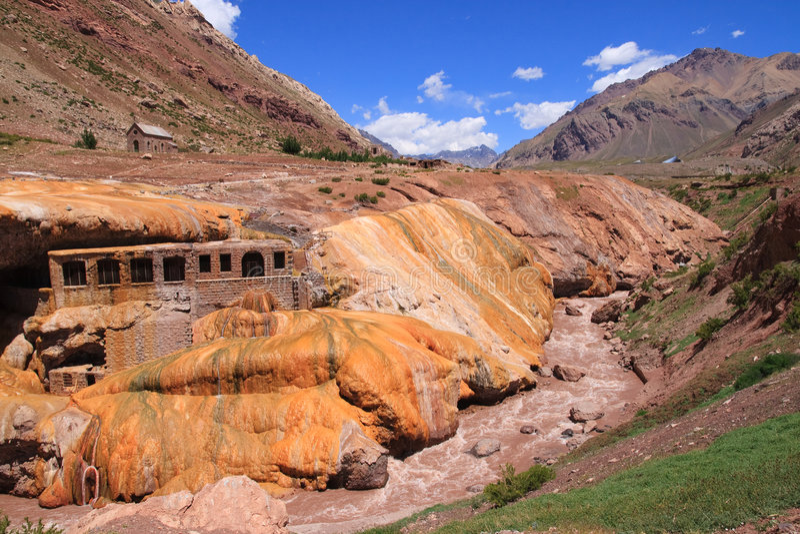 Puente del Inca. Located in the Andes mountains, Mendoza, Argentina royalty free stock photos