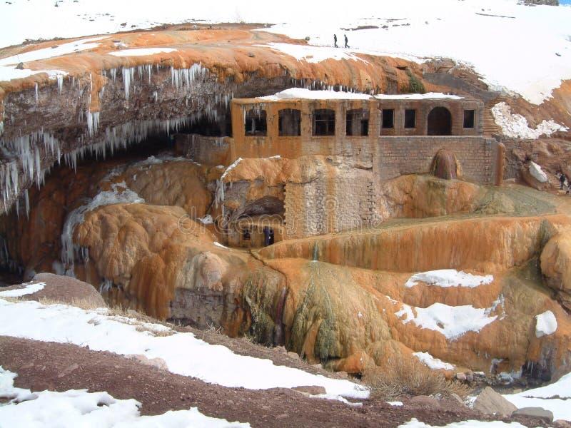 Puente del Inca, Argentina, Thermal molha o banho foto de stock royalty free