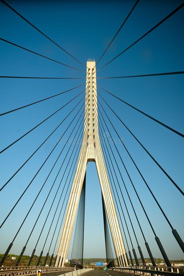 Puente del International de Guadiana imagen de archivo libre de regalías