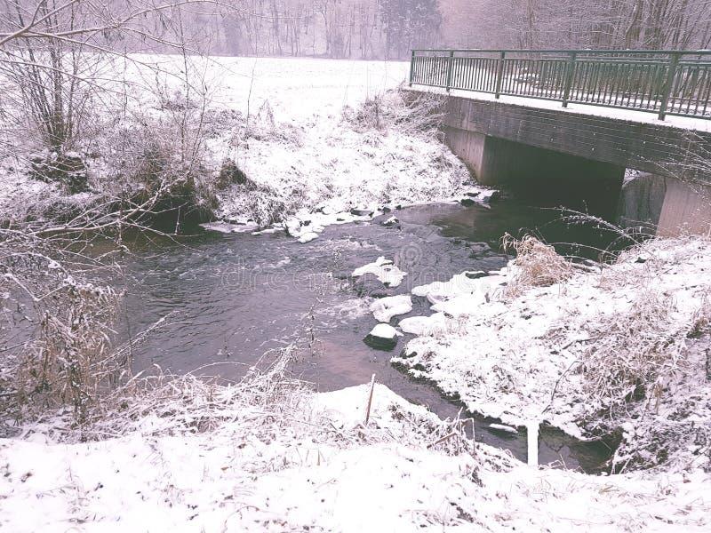 Puente del invierno foto de archivo