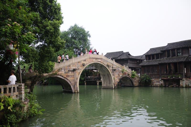 Puente del oeste de la piedra de la opinión de Wuzhen fotos de archivo libres de regalías