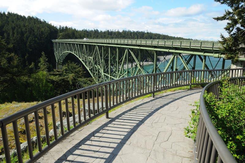 Puente del paso del engaño foto de archivo