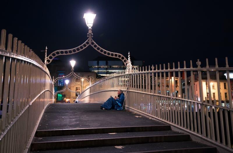 Puente del penique del ` de la ha, Dublín fotografía de archivo